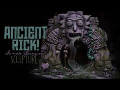 Look Morty! I'm Ancient Rick! Inspired by Rick & Morty's travels to other worlds. Sculpting Tutorials, Japon Illustration, Incense Burner, Stargate, Rick And Morty, Big Eyes, Diorama, Polymer Clay, Sculptures