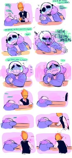 """Talk to me, I'm here"" I CANT EVEN-- #Undertale#Sans#Grillby"
