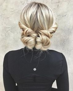 Two Low Buns For Long Hair
