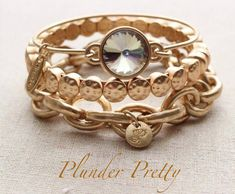 Plunder Jewelry - All the Gold Ankle Bracelets, Jewelry Bracelets, Layering Bracelets, Fashion Bracelets, Vintage Costume Jewelry, Vintage Jewelry, Sterling Silver Bracelets, Silver Jewelry, Silver Earrings