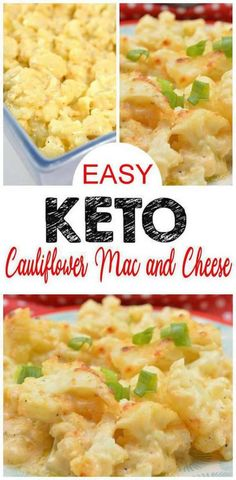 Keto Mac & Cheese – EASY Low Carb Mac and Cheese Recipe – BEST Keto Friendly Food Idea - Gluten Free! Keto Cauliflower mac & cheese - looks and tastes exactly like mac & cheese but healthy! Great keto side dish, lunch or dinner - keto meal idea. If you have been craving mac and cheese food this is the keto food recipe for you! Switch out the starchy pasta noodles in this comfort food favorite with homemade keto mac & cheese. #keto #ketorecipes #lowcarb Low Carb Mac And Cheese Recipe, Mac And Cheese Rezept, Mac Cheese, Cheese Food, Pasta Cheese, Cheese Recipes, Keto Cheese, Easy Healthy Recipes, Low Carb Recipes