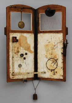 """Atlas of Time"" ... encaustic and mixed media"