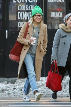 Recycling: Sienna Miller proved you don't need to be mega-rich to be fashionable as she re...