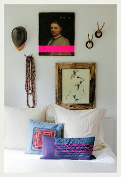 thumbs neon tape frame interior design modern bold colors 14 Get Your Tape On! Home Design, Modern Interior Design, 2017 Design, Decoration Inspiration, Interior Inspiration, Tape Art, Wabi Sabi, Antique Paint, Interior Exterior