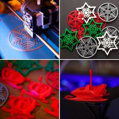 Check out these printed ornaments from Brit MakeShop. - Printer Pen - Ideas of Printer Pen - Check out these printed ornaments from Brit MakeShop. 3d Printer Designs, 3d Printer Projects, 3d Projects, 3d Printing Diy, 3d Printing Service, 3d Christmas, Christmas Ornaments, Festival Decorations, Christmas Decorations