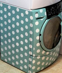 So cute! paint your washing machine! (tutorial)  #home #decor #diy