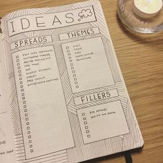 Bullet journal ideas page, patterned background, geometric patterned drawing. | @hayleighreidart