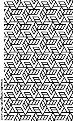 Printable Coloring Pages for Adults Geometric Repeating Pattern