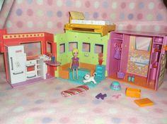 POLLY POCKET DOLL FOLDING APARTMENT DOLLHOUSE HOUSE w/ KITCHEN GIRLS 3+ MATTEL | Dolls & Bears, Dolls, By Brand, Company, Character | eBay!