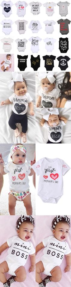 Baby Girls Clothing: Usa Newborn Infant Kids Baby Boys Girls Romper Bodysuit Jumpsuit Clothes Outfits -> BUY IT NOW ONLY: $5.49 on eBay!