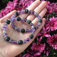 siSTARS Amethyst Lava Stone Essential Oil by TempleAdornment