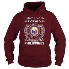 Latvia-Philippines - #women hoodies #short sleeve sweatshirt. PURCHASE NOW => https://www.sunfrog.com/LifeStyle/Latvia-Philippines-Maroon-Hoodie.html?id=60505