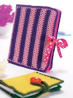 Crochet Notebook Covers - free pattern @ Crafts Beautiful
