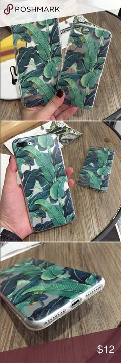 BANANA LEAF IPHONE 7 & IPHONE 7 PLUS CASE SOFT SILICONE CASE  HIGH QUALITY TPU Accessories Phone Cases