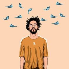 J Cole Inkquisitive illustrations iphone case