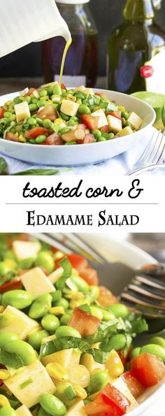 Toasted Corn and Edamame Salad - Quick, healthy and flavorful! Toasted ...