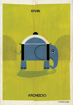 "ARCHIZOO: Illustrated Architectural ""Animals"" from Federico Babina,Courtesy of Federico Babina"