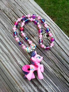 Pony Purple & Pink Beaded Necklace My Little Pony Jewelry