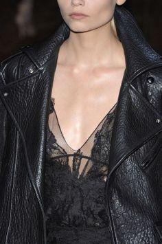 LA COOL & CHIC lace and leather pinterest.com/sahstarr