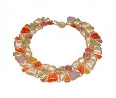 Anne Klein Couture Collar Necklace by MadgesHatBox, $195.00 #vintagejewelry #vintagejewellery #vintagenecklace #anneklein