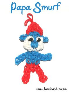 Papa Smurf loom band figurine tutorial - Loomband
