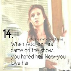 This is so accurate!! I hated her so much now I look forward to when ahe makes appearances!!