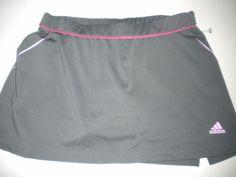 Adidas Size Medium Gray Hot Pink Stretch Inner Tight (Shorts) Women Tennis Skort #Adidas #Skort
