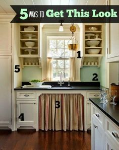 Been dreaming of a cottage-style kitchen? It doesn't have to cost a fortune! Check out these links to five tutorials to help you get the look for less.