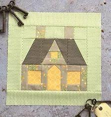 19 Ideas For Patchwork Cocina Ideas Quilt Blocks House Quilt Patterns, House Quilt Block, Paper Pieced Quilt Patterns, Machine Quilting Patterns, Star Quilt Blocks, House Quilts, Quilt Block Patterns, Potholder Patterns, Patchwork Patterns