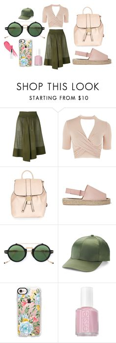 """""""Untitled #1512"""" by moestesoh ❤ liked on Polyvore featuring Balmain, Topshop, 8, Jacques Marie Mage, Mudd, Casetify and Essie"""