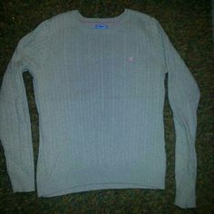 Izod Cable Knit Sweater Medium Washed only. Never worn. 100% cotton IZOD Sweaters Crew & Scoop Necks