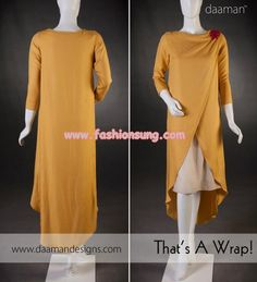 Latest Daaman Winter Casual Dresses 2013 For Women