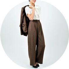 Katharine Hepburn Style: Trousers