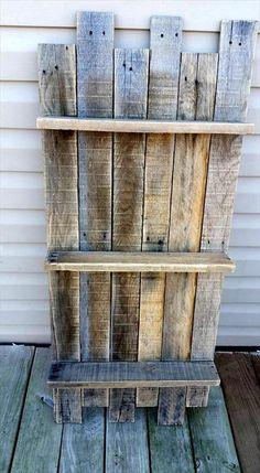Wonderful Pallet Fireplace and Shelf Ideas - Pallets Platform