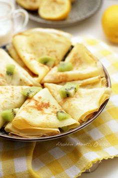 Lemon Sugar Crêpes I make these ALL THE TIME! My family loves them, but for breakfast I adjust the sugar to 1 - 2 tbsp. This recipe also works well with 50% white flour and 50% whole wheat pastry flour.