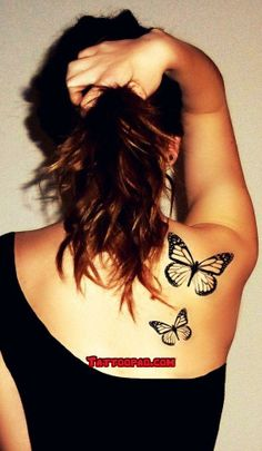 butterfly tattoos, black white and butterflies. #tattoo #tattoos #ink