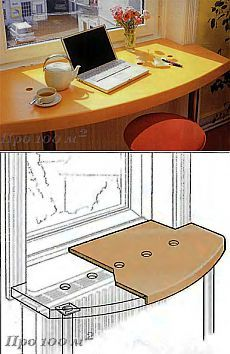 The sill-table for small rooms Interior Modern, Home Interior, Interior Design Living Room, Home Design, Home Office Design, Small Space Living, Small Rooms, Furniture Making, Diy Furniture