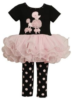2948249dae1 Amazon.com: Bonnie Baby-girls Newborn Poodle Applique Top with Knit Legging  (Pink, 3-6 Months): Health & Personal Care