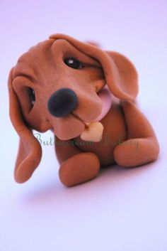 Adorable Fondant Dachshund/Sausage Dog Cake Topper