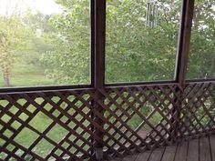screened porch lattice or rails - Google Search