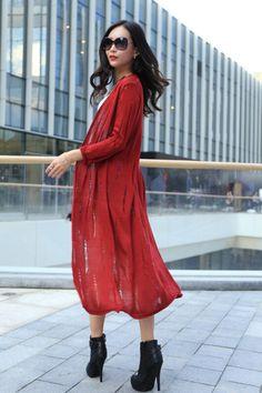 Moda feminina Cardigan Sweater malhas casaco casuais vestido longo suéter feminino malhas brasão grátis frete em Cardigãs de Roupas e Acessórios Femininos no AliExpress.com | Alibaba Group