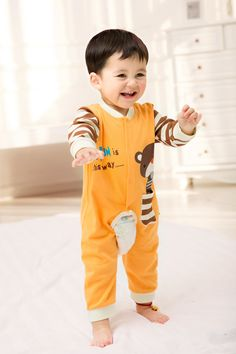 2015 New Cute Fashion Bear Red Spring Autumn Baby Clothing Romper Unisex Factory Direct Clothing Cheap Newborn Jumper Cotton Fall For 0-24M Baby Boy Baby Girl Clothes Brand Infant Garment Fashion Roupas Bebes Clothes Jumpsuit Romper China Brand