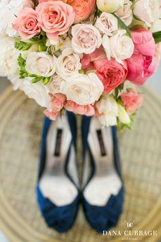 Pink, Coral + Navy Wedding // Baltimore MD Photo By Dana Cubbage Weddings www.danacubbageweddings.com