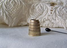 Vintage Brass Thimble Germany Quilters Thimble by cynthiasattic, $25.00