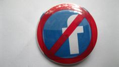 Anti-Facebook Pinback Button by bohemianapothecarium on Etsy, $1.49