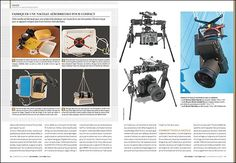 Press article dealing with Kite aerial photography in Competence photo magazine #36