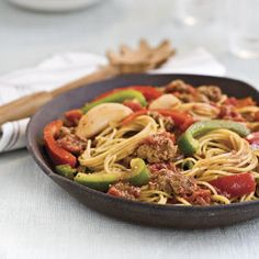 Quick Spaghetti With Sausage and Peppers