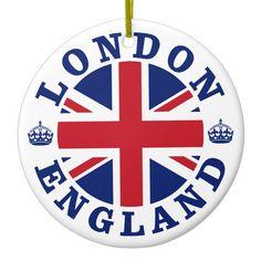 Shop London England British Flag Roundel Ceramic Ornament created by unionjack. Comic Cat, Etiquette Vintage, Images Vintage, Vintage London, National Flag, Union Jack, London England, Birmingham England, Liverpool England