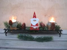 Weihnachtsdeko - ♥ shabby Landhaus Adventsboard mit Windlichtern ♥ - ein Designerstück von Sternenglanz-Clemens bei DaWanda
