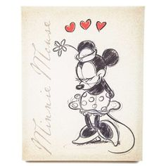 Tan Vintage Minnie Mouse Canvas Wall Art | Shop Hobby Lobby Might just have to make a trip up to hobby lobby to get these